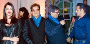 Salman and Aishwarya attend Subhash Ghai Birthday Party f