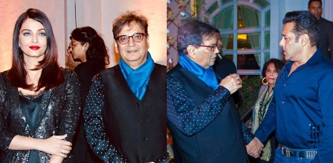 Salman and Aishwarya attend Subhash Ghai Birthday Party f