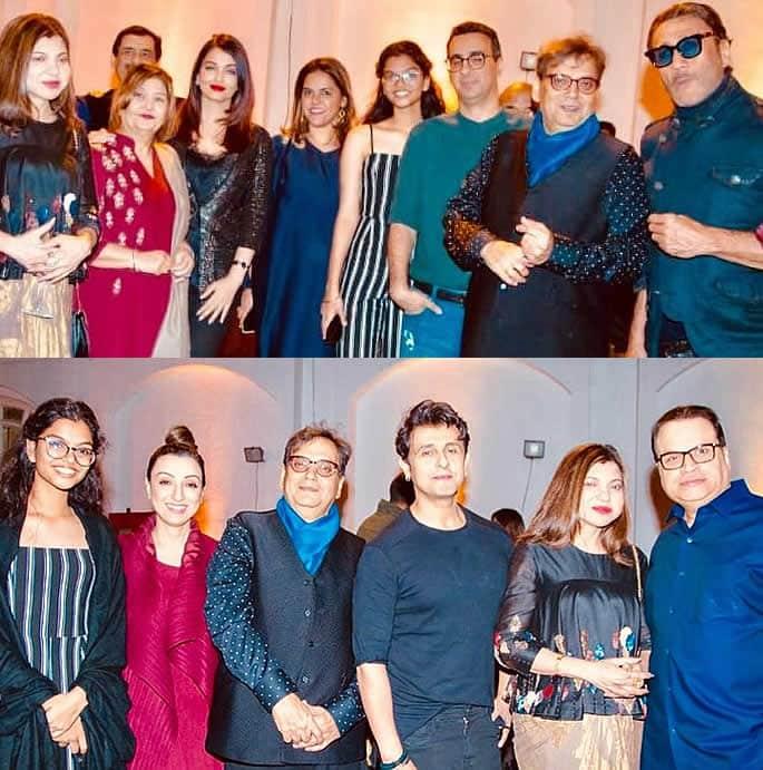 Salman and Aishwarya attend Subhash Ghai Birthday Party - singers