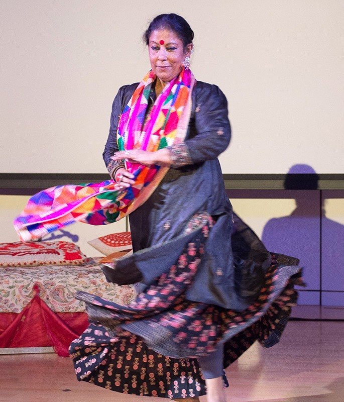 Sujata Banerjee talks Indian Dance, Process & Education - Sujata performing at Hemantika