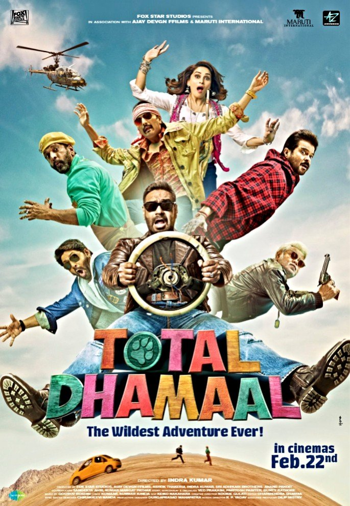 Join the Wild Adventure in the Trailer for Total Dhamaal - Poster
