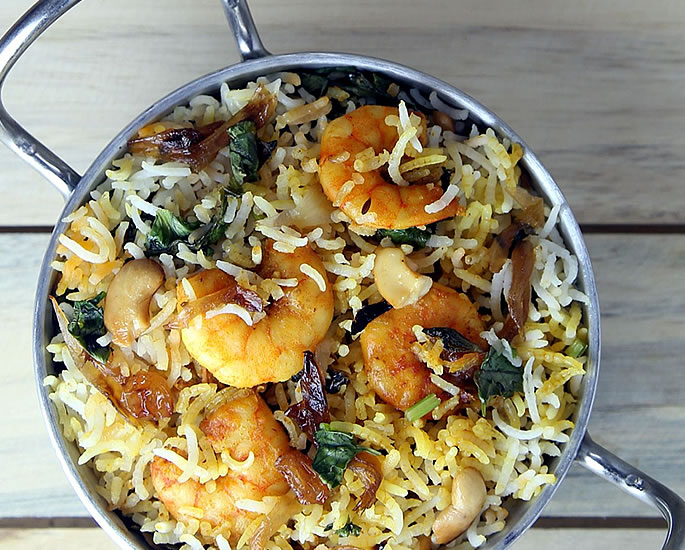 5 Simple Prawn Recipes to Make at Home - biryani