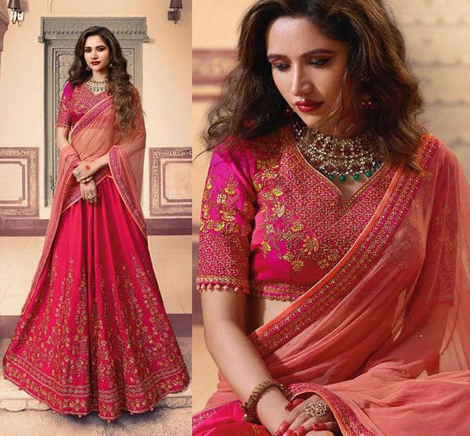 Beautiful Modern Bridal Lehengas for your Wedding - cerise 1