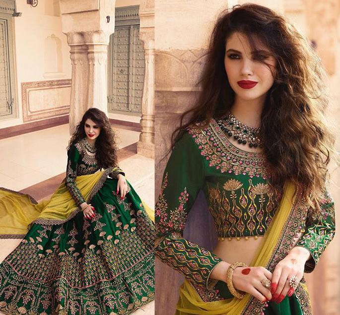 Beautiful Modern Bridal Lehengas for your Wedding - green 2