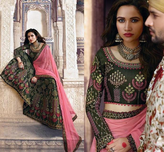 Beautiful Modern Bridal Lehengas for your Wedding - mehndi green 1