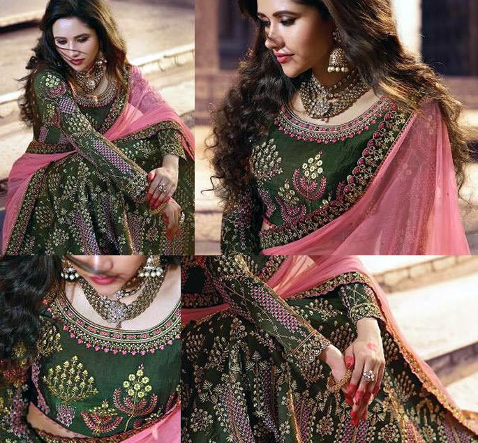 Beautiful Modern Bridal Lehengas for your Wedding - mehndi green 2