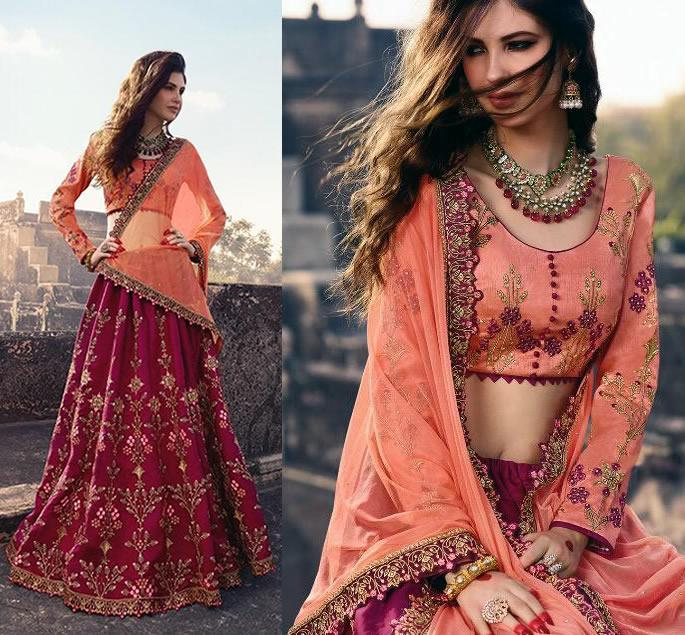 Beautiful Modern Bridal Lehengas for your Wedding - orange wine 1