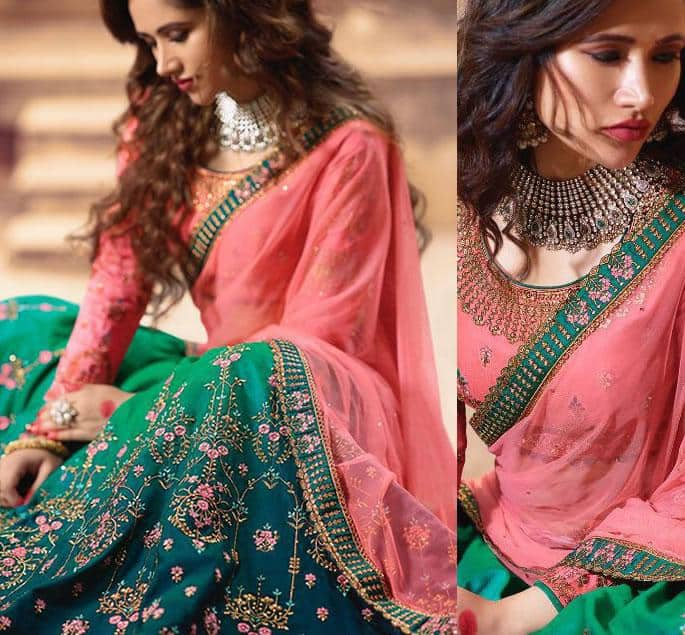 Beautiful Contemporary Bridal Lehengas for your Wedding - pink blue 2