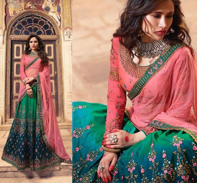 Beautiful Modern Bridal Lehengas for your Wedding - pink blue