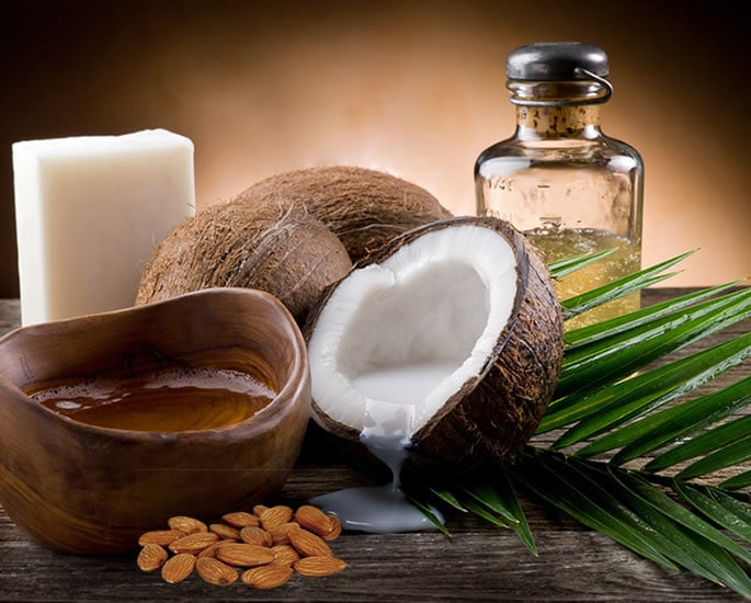 Desi Remedies to Get Longer and Fuller Eyelashes - almond coconut castor oil