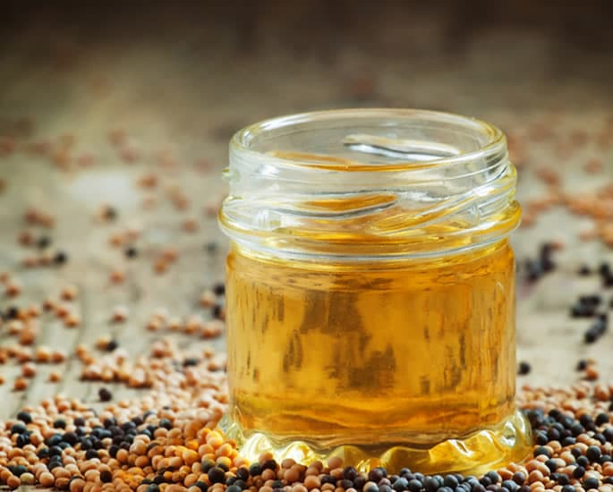 Desi Remedies to Get Longer and Fuller Eyelashes - mustard oil