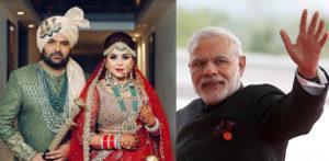 Kapil & Ginni inviting PM Modi to Delhi Reception_ f