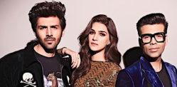 Kartik Aaryan & Kriti Sanon have Fun on Koffee with Karan 6