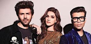 Kartik Aaryan & Kriti Sanon have fun on Koffee with Karan 6 f