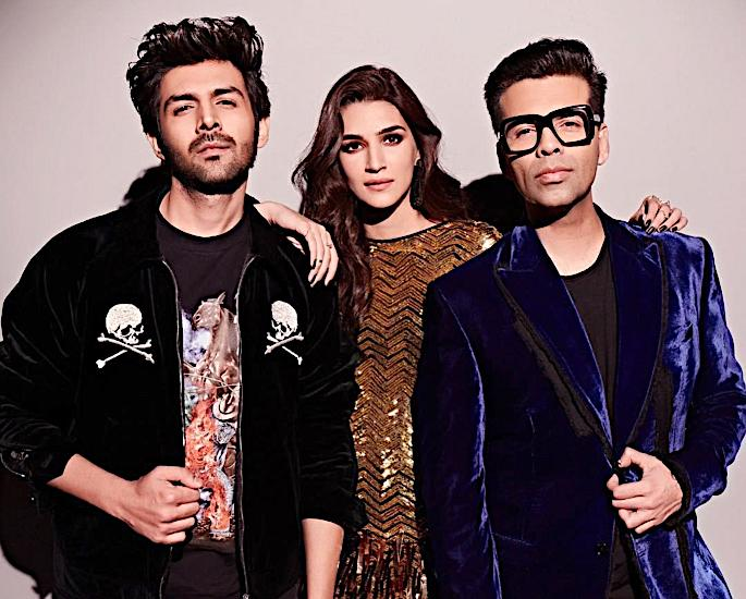 Kartik Aaryan & Kriti Sanon have fun on Koffee with Karan 6 - karan johar kartik aaryan and kriti sanon