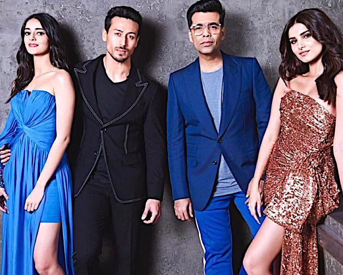 Kartik Aaryan & Kriti Sanon have fun on Koffee with Karan 6 - karan johar tiger shrroff ananya panday tara sutaria