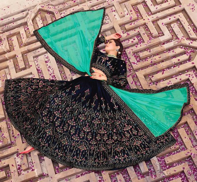 Modern Bridal Lehengas for your Wedding - black