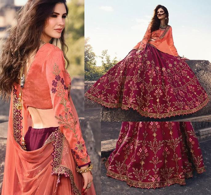 Modern Bridal Lehengas for your Wedding - orange wine 2
