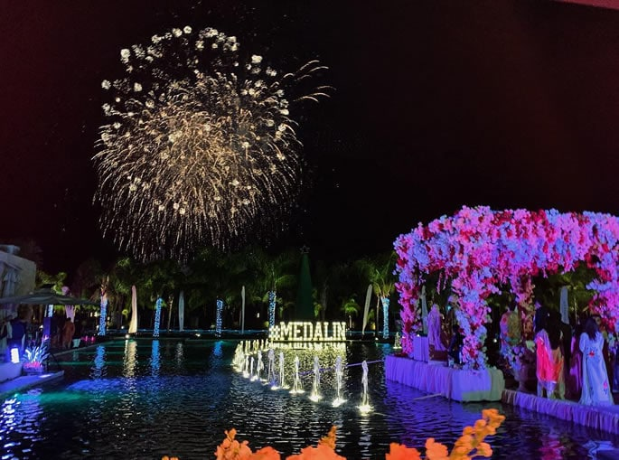 Most Expensive Indian Wedding in Turkey with Big Stars - fireworks