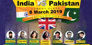 Win Tickets for 2 City India vs Pakistan Comedy Clash