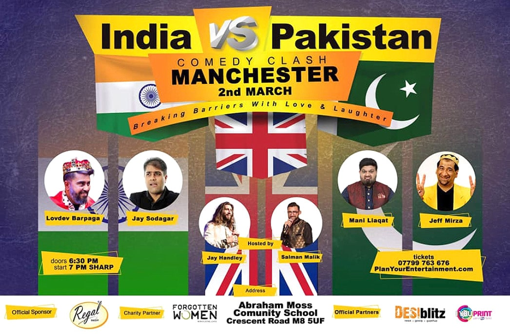 Win Tickets for 2 City India vs Pakistan Comedy Clash - Manchester