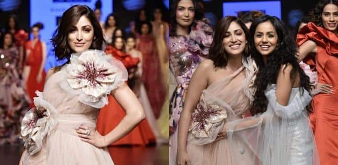 Yami Gautam trips Three Times at Lakme Fashion Week f