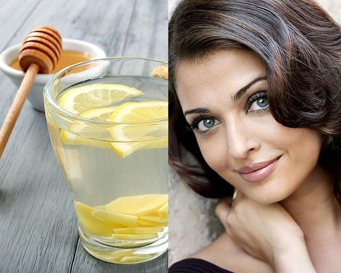 7 Beauty Secrets of Aishwarya Rai Bachchan - Lemon Honey Water