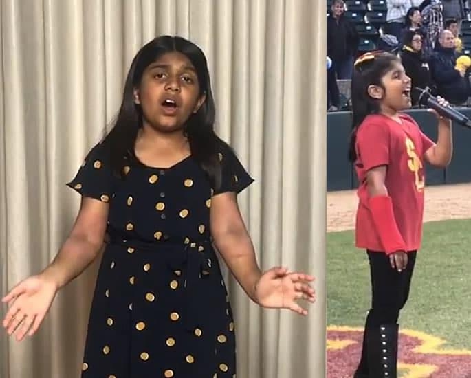 7-वर्षीय अमेरिकी भारतीय लड़की ने सेलीन डायोन के सामने आत्मसमर्पण किया - अंजलि