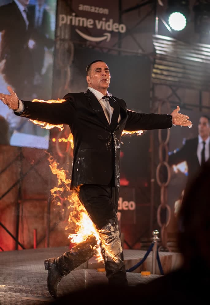 Akshay Kumar is 'Fired Up' about PrimeVideo 'THE END' - stage
