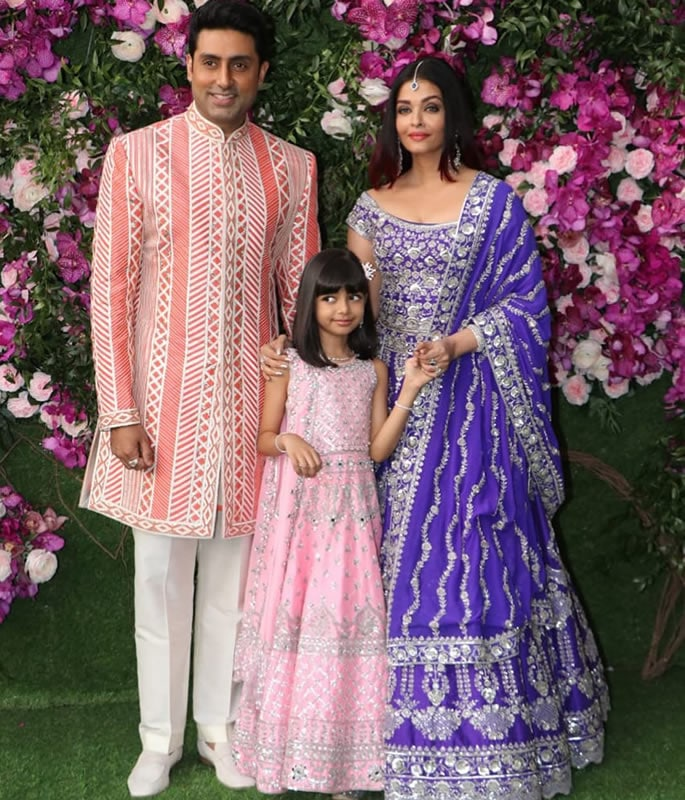 Best Dressed Stars at Akash Ambani-Shloka Mehta Wedding - abhishek aishwarya