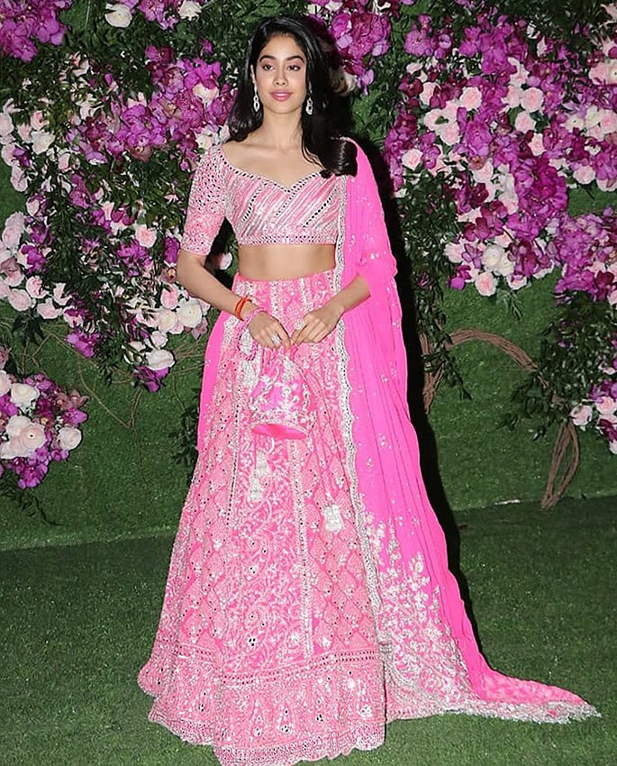Best Dressed Stars at Akash Ambani-Shloka Mehta Wedding - janhvi kapoor