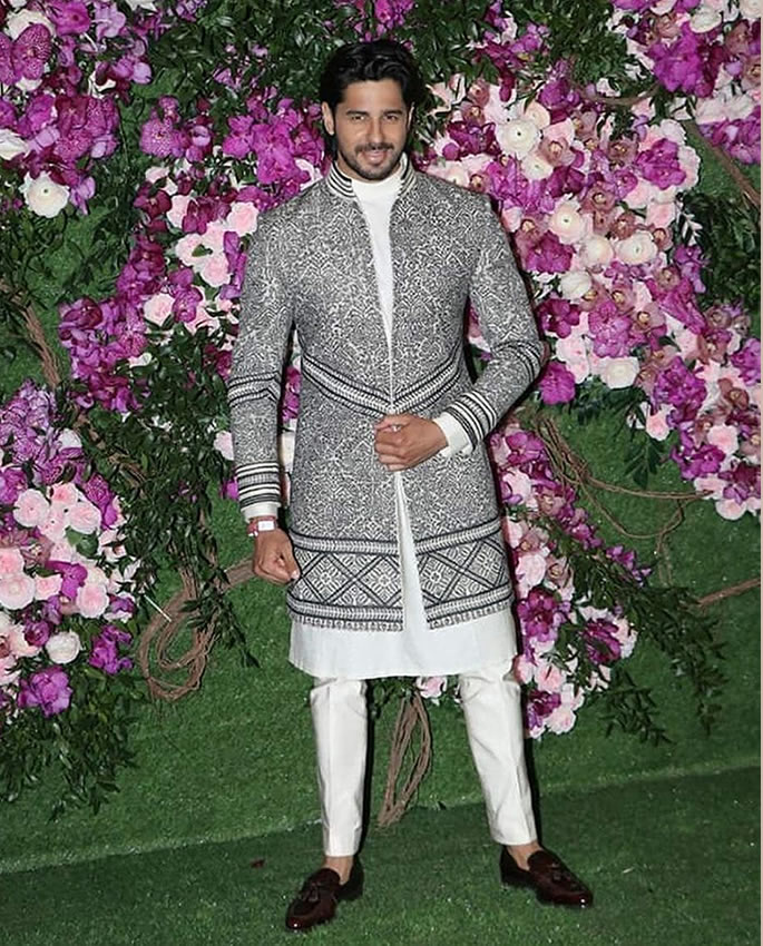 Best Dressed Stars at Akash Ambani-Shloka Mehta Wedding - sidarth malhtora