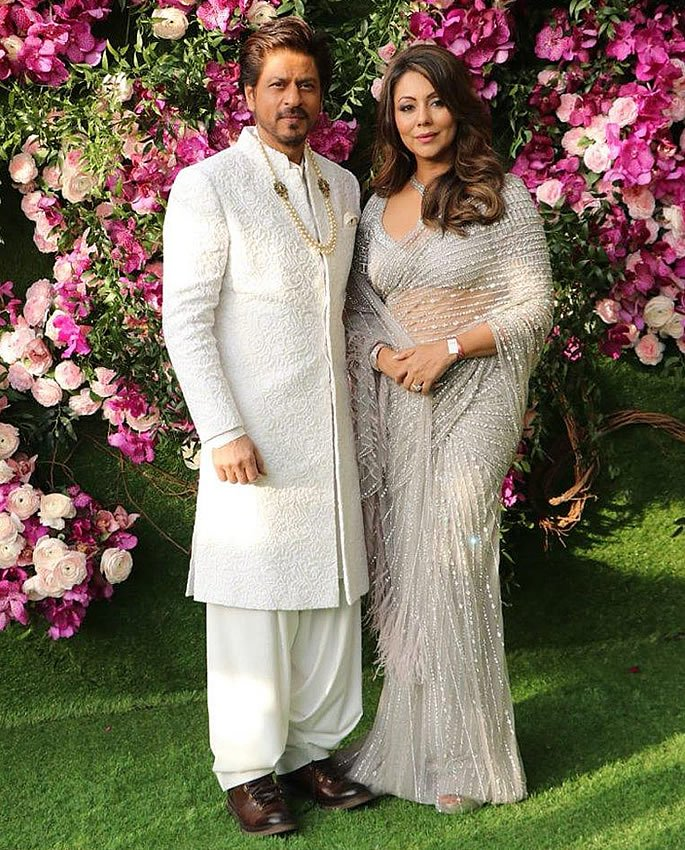 Best Dressed Stars at Akash Ambani-Shloka Mehta Wedding - srk gauri khan
