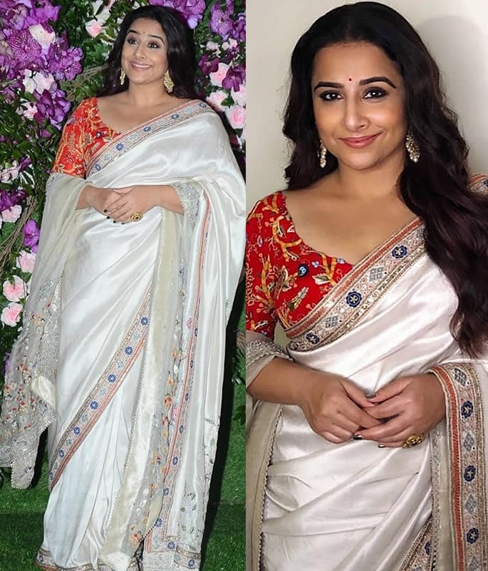 Best Dressed Stars at Akash Ambani-Shloka Mehta Wedding - vidya balan
