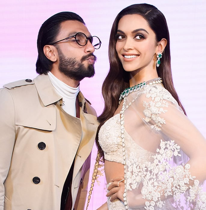 Deepika Padukone unveils her Wax Statue in London - ranveer kiss