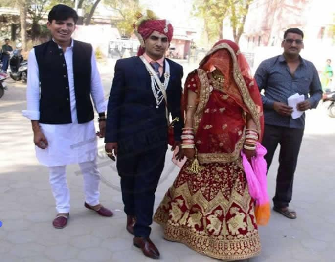Indian Bride takes Final Exam on her Wedding Day - pooja and mahinder