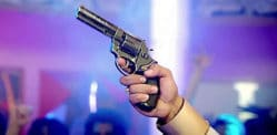 Indian Man shoots himself in Genitals at Wedding