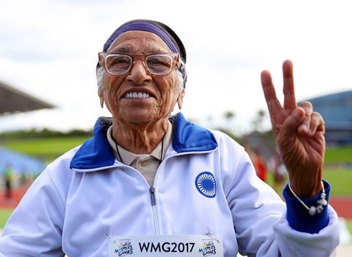 Man Kaur aged 103 wins Gold Medal for Shot Put - 2017 event