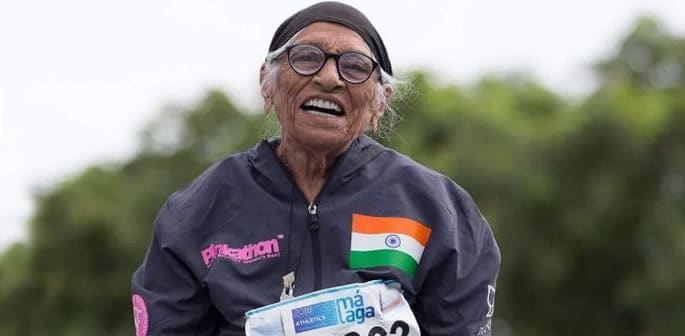 Man Kaur aged 103 wins Gold Medal for Shot Put f