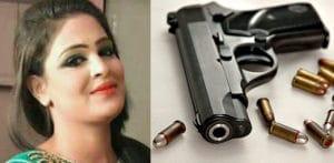 गनमैन द्वारा पाकिस्तानी स्टेज अभिनेत्री मुनजा मुल्तानी की शूटिंग