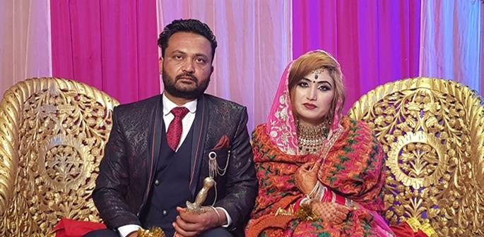 Punjabi Pakistani Bride marries Indian Groom in Punjab f