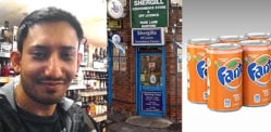 Shopkeeper punched in Face by Youths Stealing Fanta