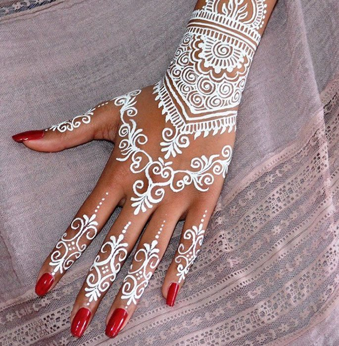 The History of Henna and Mehndi - white henna