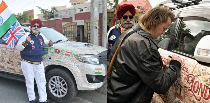 'Turban Traveller' Drives from Delhi to London in 131 Days f