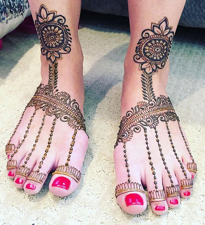 Egyptian Henna Designs: 12 Feet Henna Designs That Are Beautiful For Weddings