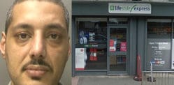 Armed Robber caught and jailed with DNA from Glove