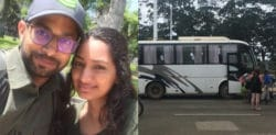 Holiday Couple held up on Bus in Peru by Armed Gang