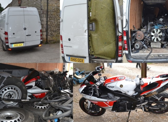 Ilford Man jailed for Selling Stolen Cars and Bikes worth £1m 2