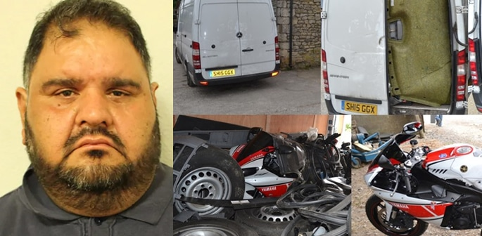 Ilford Man jailed for Selling Stolen Cars and Bikes worth £1m f