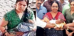2-महीने के बच्चे को चुराने में असमर्थ भारतीय महिला
